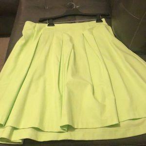 Bright green Lane Bryant circle skirt